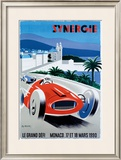 Le Grand Defi Monaco, 18 Mars, 1990 Framed Giclee Print by Pierre Fix-Masseau