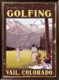 I'd Rather be Golfing Colorado Framed Giclee Print