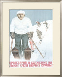 Russian Winter Sports Framed Giclee Print