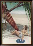 Matson Lines to Hawaii Framed Giclee Print