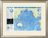 Pacific Ocean Floor Map Art