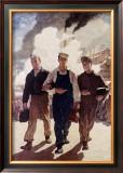 US Homefront Patriotic Poster The Spirit of '46 Framed Giclee Print