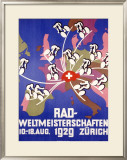Rad-Weltmeisterschaften Bicycle Race Framed Giclee Print
