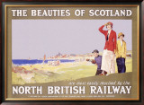 North British Railway, Golf in Scotland Framed Giclee Print