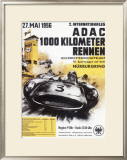 Nurburgring 1000 Auto Race, c.1956 Framed Giclee Print