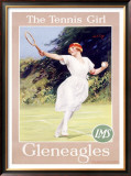 Gleneagles/The Tennis Girl Framed Giclee Print by Septimus Scott