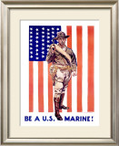 Be a US Marine Framed Giclee Print