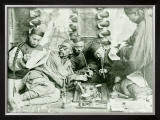 Canton China Opium Den Framed Giclee Print
