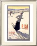 Rigi Ski, 1907 Framed Giclee Print