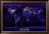 Earth by Night Prints