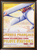 Pilote d' Aviationes Military Aviation Framed Giclee Print