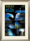 Green Alternative For Our Blue Planet Print