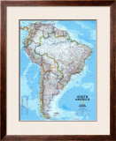 South America Political Map Prints