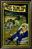 Pneus Dunlop Framed Giclee Print by Georges Gaudy