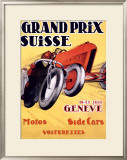 Grand Prix Swiss Framed Giclee Print by Charles Loupot