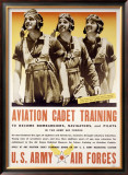 WWII, Aviation Cadet Training Framed Giclee Print