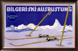 Austrian Bilgeri Ski Framed Giclee Print
