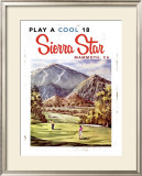 Play a Cool 18, Sierra Star Framed Giclee Print