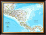 Map of Central America Prints