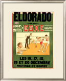 El Dorado, Matchs de Boxe Anglaise Framed Giclee Print by H. L. Roowy
