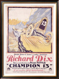 Richard Dix Champion 13 Framed Giclee Print by Brantome 