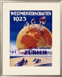 Weltmeisterschaften Bicycles Framed Giclee Print
