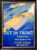 Out in Front Framed Giclee Print