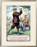 Don't Spend it All, Golf Framed Giclee Print