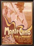 Monte Carlo, Tir aux Pigeons Framed Giclee Print by Adolfo Hohenstein