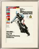 500cc Us Motocross Grand Prix Poster Framed Giclee Print