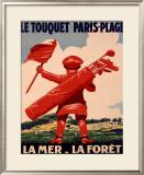 Le Touquet, Paris Framed Giclee Print by  Courchinoux
