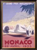Monaco Grand Prix, 1935 Framed Giclee Print by Geo Ham