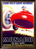 Monaco Grand Prix, 1955 Framed Giclee Print by J. Ramel