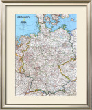 Map Germany Prints