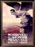 Mostra del Ciclo, Milano, 1907 Framed Giclee Print by Leopoldo Metlicovitz