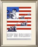 WWII, Keep 'Em Rolling Framed Giclee Print