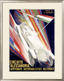 Circuito Alessandria Framed Giclee Print by Giuseppe Riccobaldi