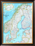 Map of Scandinavia Posters