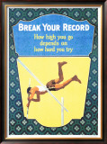 Break Your Record Framed Giclee Print by Frank Mather Beatty