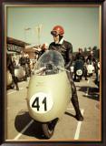 GP Moto Guzzi Motorcycle Race Framed Giclee Print