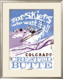 For Skiers Who Want it All: Colorado Framed Giclee Print