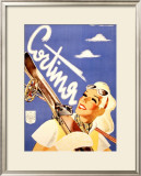 Cortina Skier Framed Giclee Print