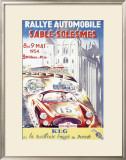 Rallye Automobile Sable, Solesmes Framed Giclee Print
