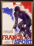 Cycles France Sport Framed Giclee Print by A. Bernat