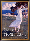 Golf, Monte Carlo Framed Giclee Print