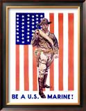 Be a US Marine Framed Giclee Print