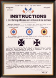 WWI, Aircraft Instruction Framed Giclee Print