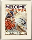 Grand Lake, Welcome Fishermen Framed Giclee Print