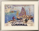 LMS Railway, Cornwall Framed Giclee Print
