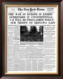 New York Times, May 8, 1945: The War in Europe is Ended! Poster